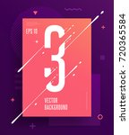 cool abstract numbers poster... | Shutterstock .eps vector #720365584