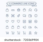 shopping  e commerce  online... | Shutterstock .eps vector #720369904
