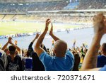 football  soccer fans support... | Shutterstock . vector #720371671