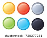 multicolored round buttons | Shutterstock .eps vector #720377281