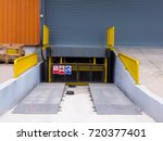 loading dock leveler ramp... | Shutterstock . vector #720377401