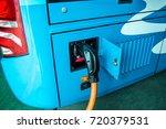 new energy electric motor coach ... | Shutterstock . vector #720379531