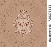 durga goddess of power vector... | Shutterstock .eps vector #720379885
