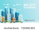 big city. urban landscape with... | Shutterstock .eps vector #720381301