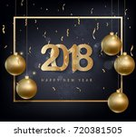 happy new year 2018 greeting... | Shutterstock .eps vector #720381505