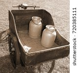 Old Bike With Milk Canister...