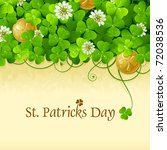 patrick's day frame with... | Shutterstock .eps vector #72038536