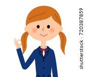 girls high school students who... | Shutterstock .eps vector #720387859