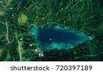 mountain lake aerial view | Shutterstock . vector #720397189