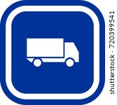 truck icon   sign square with...