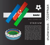 baku in 2020. azerbaijan flag...   Shutterstock .eps vector #720399664