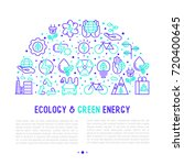 ecology and green energy... | Shutterstock .eps vector #720400645