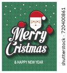 merry christmas greeting card... | Shutterstock .eps vector #720400861