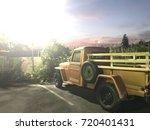 vintage car | Shutterstock . vector #720401431