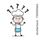 cartoon confused chef vector... | Shutterstock .eps vector #720405664