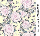 watercolor seamless pattern of... | Shutterstock . vector #720405751