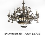 vintage chandelier isolated on...   Shutterstock . vector #720413731