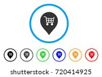 supermarket cart marker rounded ... | Shutterstock .eps vector #720414925