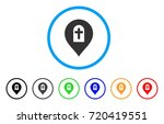 cemetery marker rounded icon....   Shutterstock .eps vector #720419551