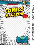comic book cover. template...   Shutterstock .eps vector #720419677