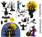 halloween background. horror... | Shutterstock . vector #720419941