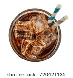 glass of cola drink with ice ... | Shutterstock . vector #720421135