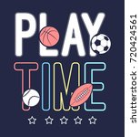 play time slogan vector and... | Shutterstock .eps vector #720424561