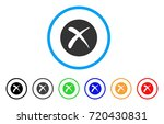 delete rounded icon. style is a ... | Shutterstock .eps vector #720430831