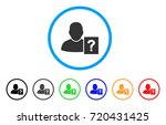 user status question rounded... | Shutterstock .eps vector #720431425