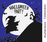 halloween party invitation... | Shutterstock .eps vector #720431641