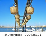 straw baskets of fishermens for ... | Shutterstock . vector #720436171