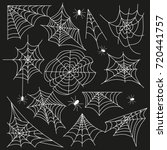 cobweb set spider web halloween ... | Shutterstock .eps vector #720441757