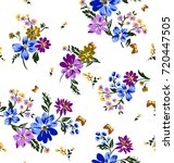 Stock vector flower pattern 720447505