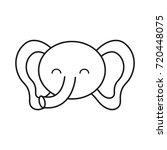 cute elephant icon  | Shutterstock .eps vector #720448075