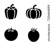 vegetables vector icons | Shutterstock .eps vector #720464899