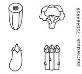 vegetables vector icons | Shutterstock .eps vector #720464929