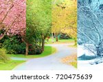 a composite collage of four... | Shutterstock . vector #720475639