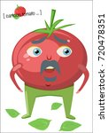 cartoon tomato character. a red ... | Shutterstock .eps vector #720478351