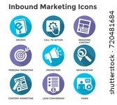 inbound marketing vector icons... | Shutterstock .eps vector #720481684