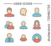 user icon set w man  woman  and ...