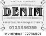 script handcrafted vector...   Shutterstock .eps vector #720483805
