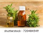 cannabis and hemp oil | Shutterstock . vector #720484549