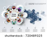 concept for business teamwork... | Shutterstock .eps vector #720489325