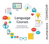 the circle of language... | Shutterstock .eps vector #720490249