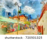daytime with sub road in... | Shutterstock . vector #720501325