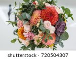 bright wedding bouquet of... | Shutterstock . vector #720504307