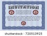 blue retro invitation template. ...   Shutterstock .eps vector #720513925