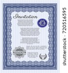 blue formal invitation. complex ...   Shutterstock .eps vector #720516595