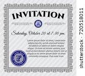 grey formal invitation. printer ...   Shutterstock .eps vector #720518011