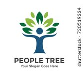 Stock vector people tree vector logo template 720519334